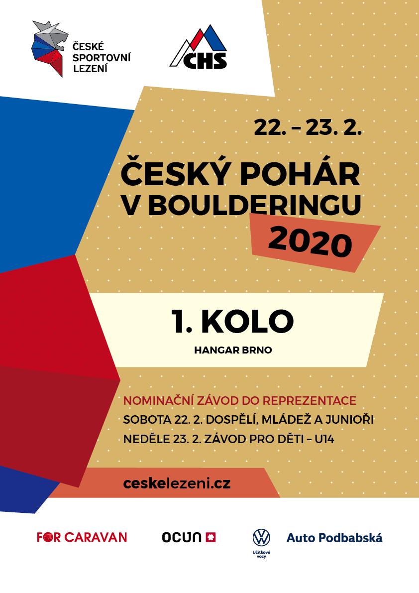 ČESKÝ POHÁR V BOULDERINGU 22.2 – 23.2.2020